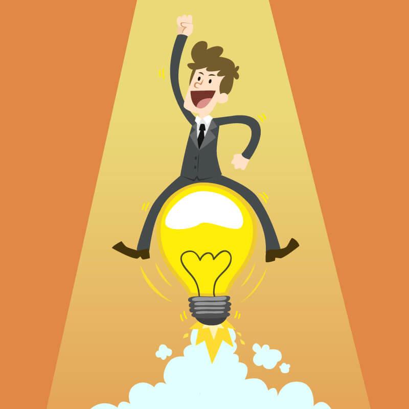 homme idée réussite startup business plan